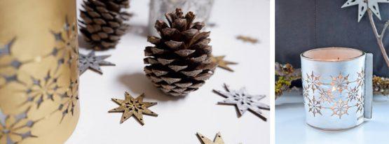 Weihnachtsdeko aus Leder Windlicht, Wunschleder HOME