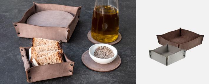 Brotkorb, Behältnisse aus Leder | Echtleder | braun | Wunschleder Home