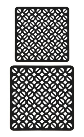Topuntersetzer Rindleder | robust | braun, schwarz | Set aus 17 und 20 cm | Wunschleder Home