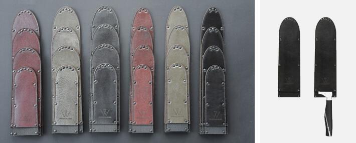 Klingenschutz für Kochmesser | Leder | Echtleder | verschiedene Breiten und Längen | Wunschleder Home