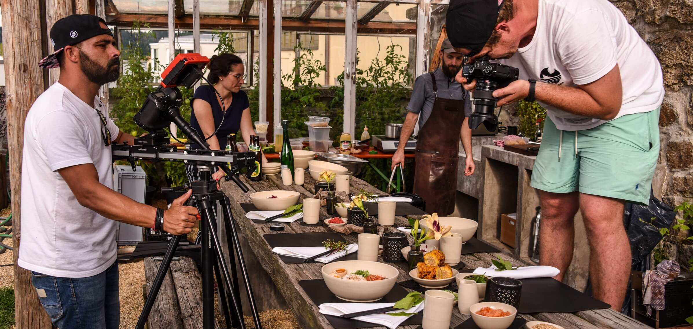 Grill Fotoshooting behind the scenes Wunschleder HOME