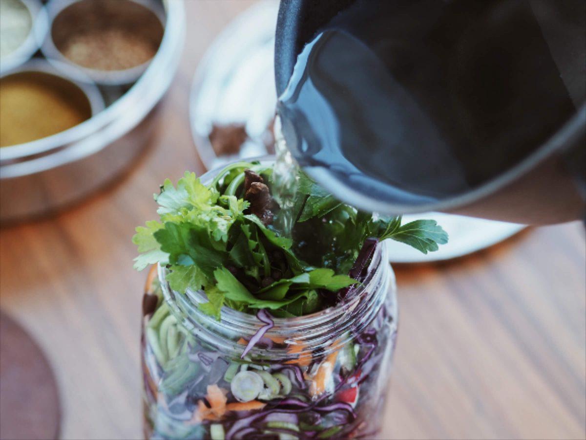 Einlegesud  Mixed Pickles   Rotkohl einlegen