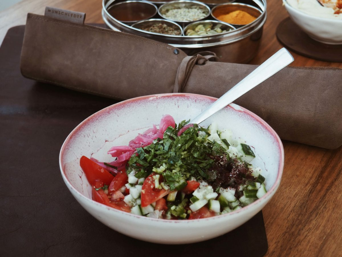 Wunschleder Home   Gurken Tomaten Salat  Gewürze