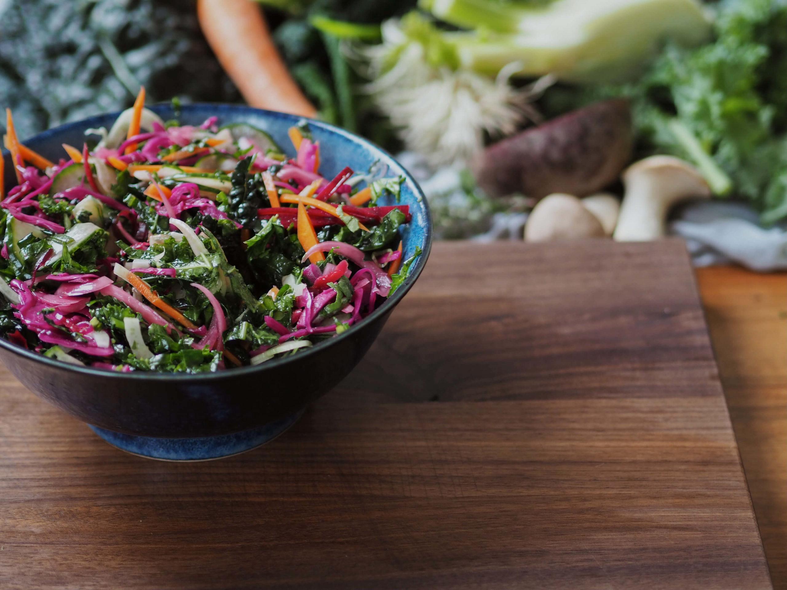 Herbstlicher Salat | Beilage |Gemüse |frischer Salat