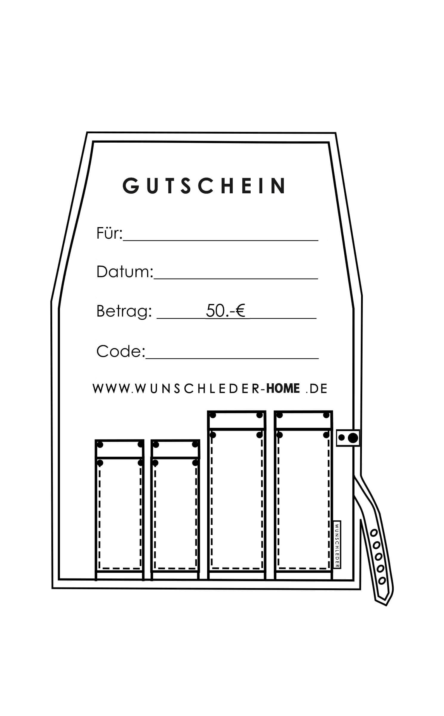 Gutschein 50 EUR | Wunschleder Home