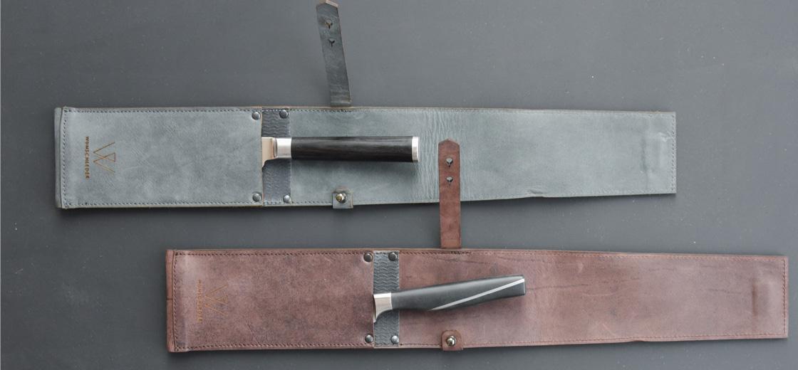 Einzelköcher, Köcher für Messer, Messerköcher Leder, Wunschleder Home