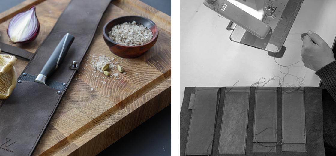 Einzelköcher, Köcher für Messer, Messerköcher, Wunschleder Home