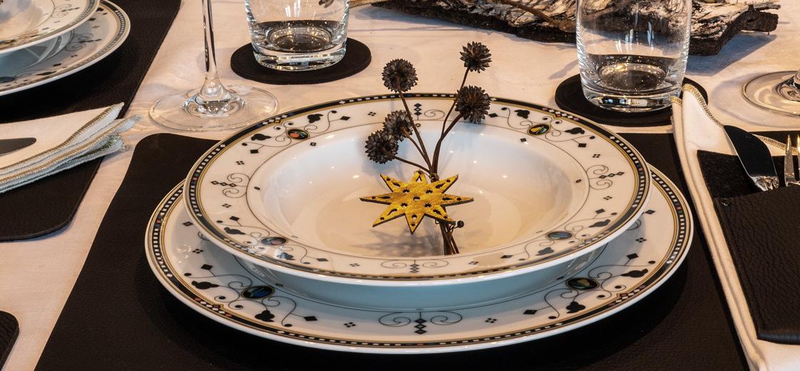 Tischset Leder, Ledertischset, Platzdeckchen, Platzset, Tischdekoration Weihnachten, Wunschleder Home