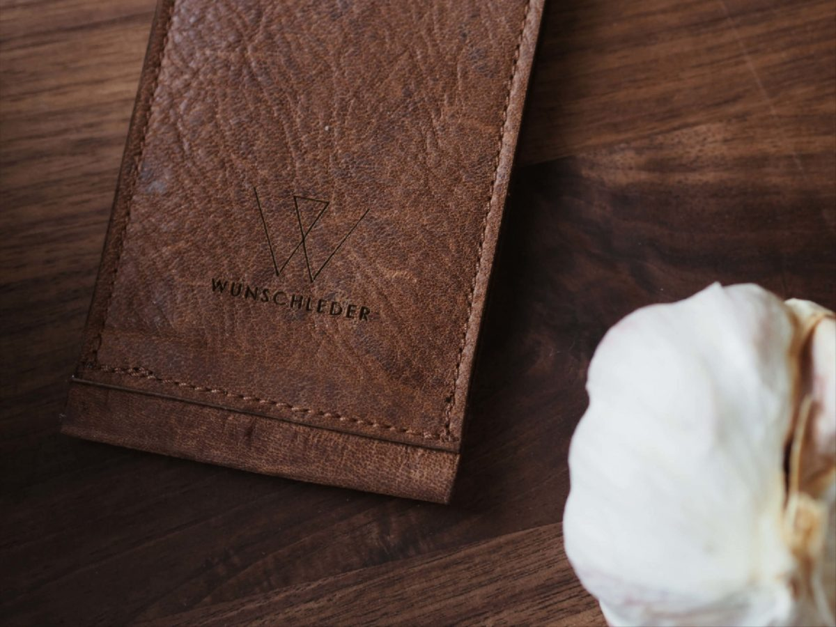 Messertasche |Wunschleder Home |Knoblauch