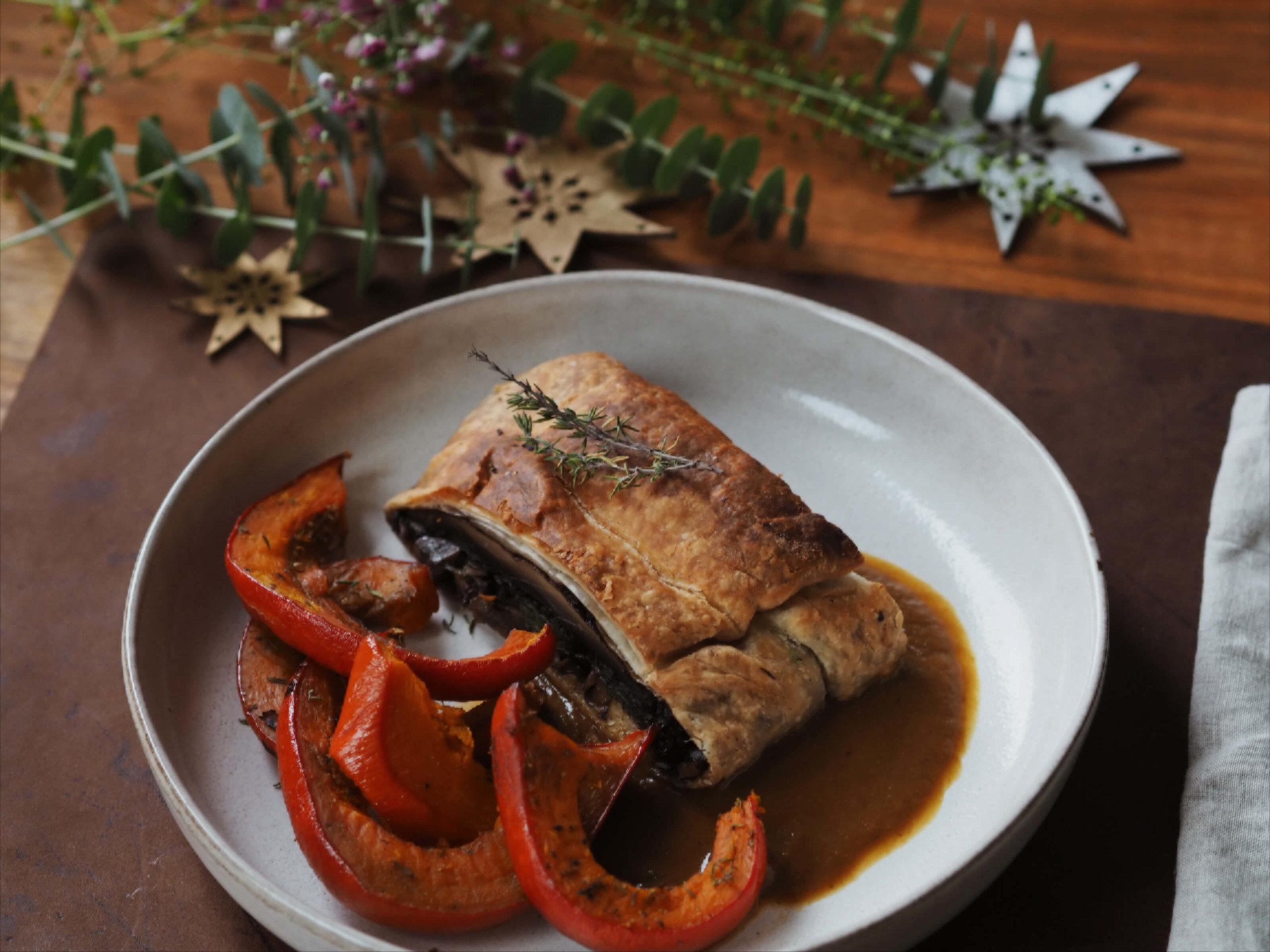 Pilz Wellington Rezept, Weihnachtsrezept, Wunschleder HOME