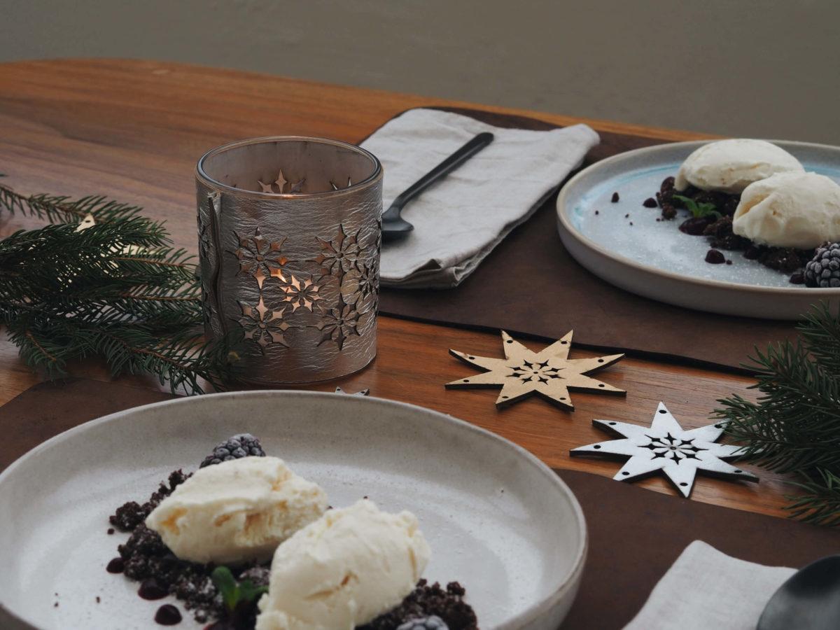 Weihnachtsdessert  Tischdeko   Wunschleder Home  Windlicht