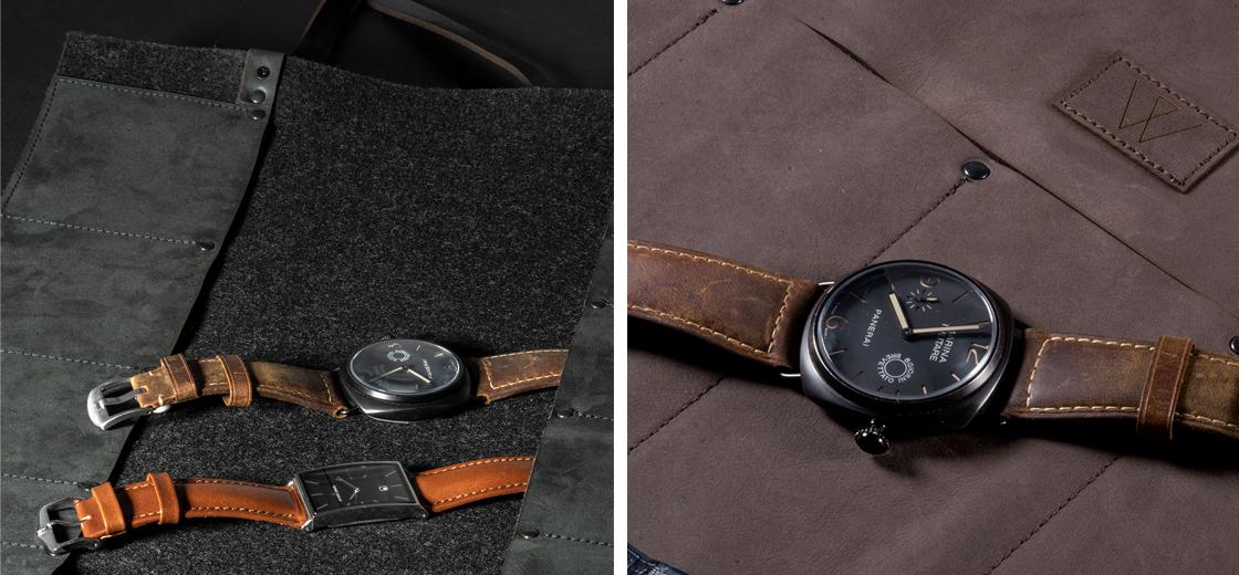 Uhrentasche Leder, Uhrenetui Leder, Uhrenrolltasche Leder, Ledertasche für Uhren, Uhrenrolle, Wunschleder Home