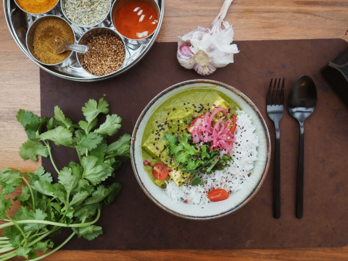 Tofu Palak Paneer |indisch kochen |'Spinatcurry