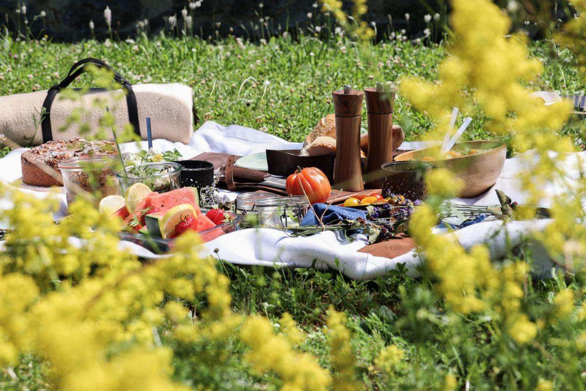 Picknick  Wunschleder Home  Lederetuis  Picknickutensilien aus Leder