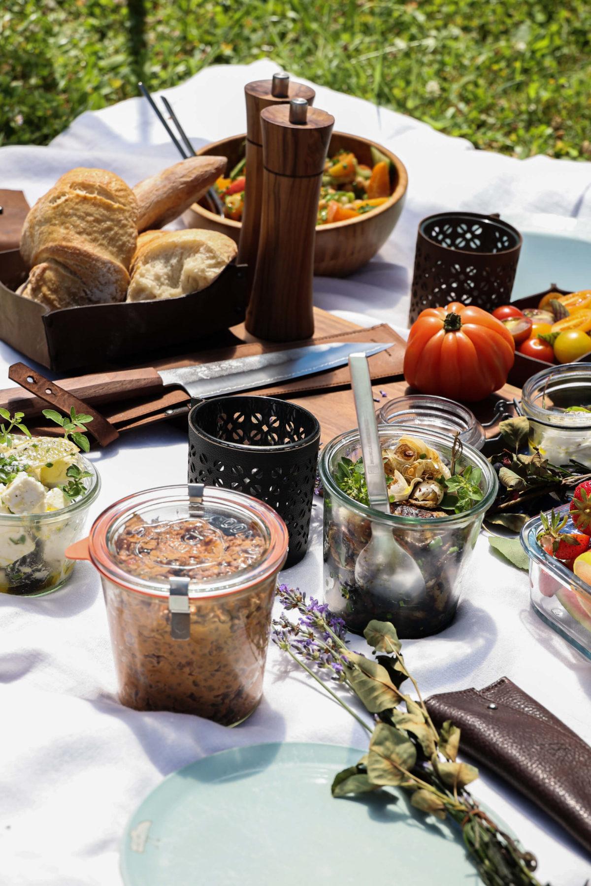 Picknick Ideen Natur Essen Outdoor