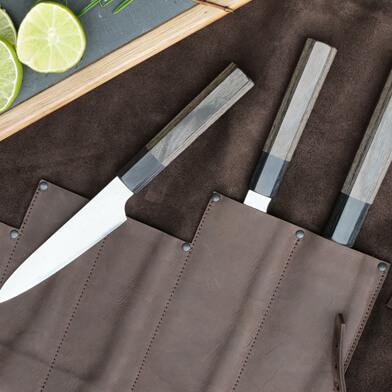 Messerschutz, Lederschutz für Messer, Lederscheide für Messer, Ledertasche für Messer, Wunschleder Home