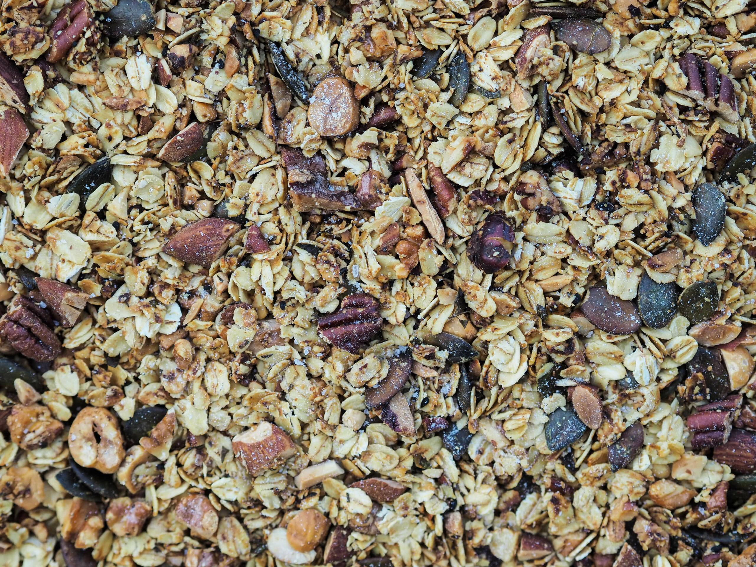 salziges Granola  Topping   Nüsse  savory granola