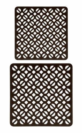 Topuntersetzer Rindleder   robust   braun, schwarz   Set aus 17 und 20 cm   arrivato