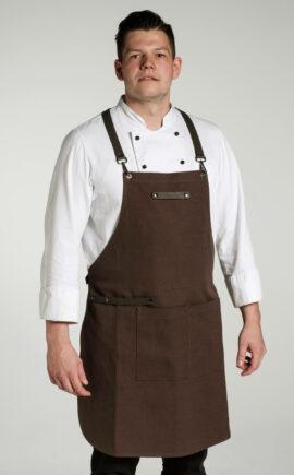 Kochschürze   Baumwolle   Canvas   braun, schwarz   robust, strapazierfähig   arrivato