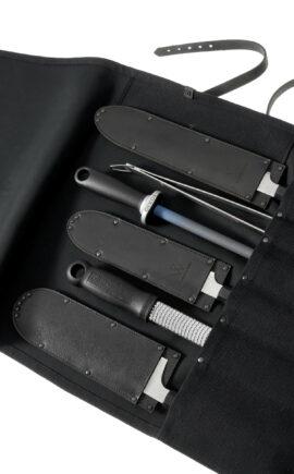 Messertasche Canvas | Messertasche Stoff | Rolltasche für Messer | arrivato
